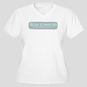 NCLEX Nursing Board Exam Women's Plus Size V-Neck