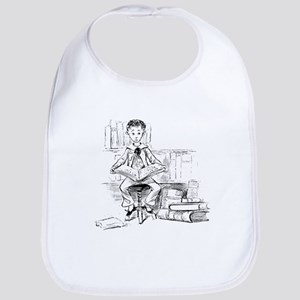 Little reader, big book Bib