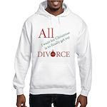 Christmas Divorce Hooded Sweatshirt