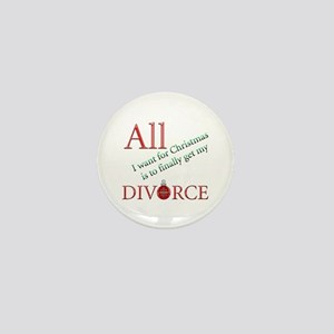 Christmas Divorce Mini Button