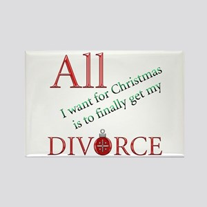 Christmas Divorce Rectangle Magnet