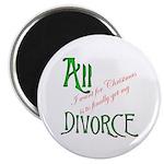 Christmas Divorce Magnet