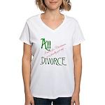 Christmas Divorce Women's V-Neck T-Shirt