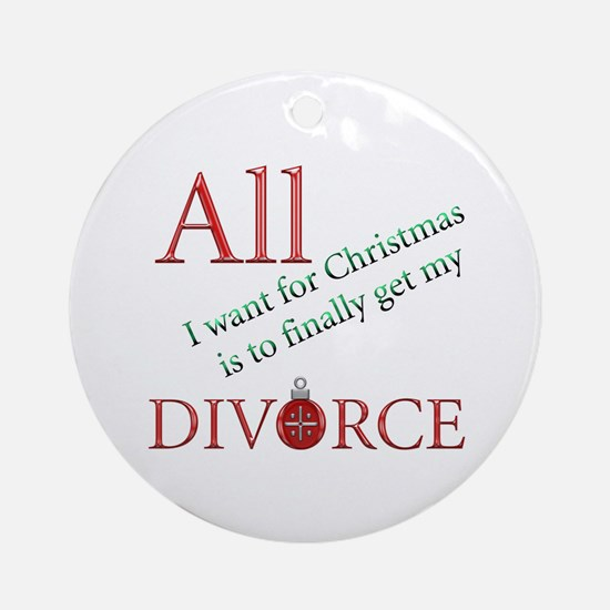 Christmas Divorce Ornament (Round)