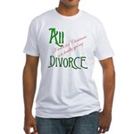 Christmas Divorce Fitted T-Shirt
