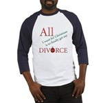 Christmas Divorce Baseball Jersey