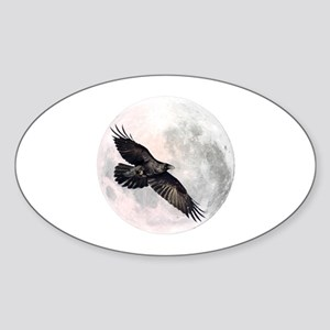 Flying Crow Oval Sticker