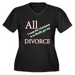 Christmas Divorce Women's Plus Size V-Neck Dark T-