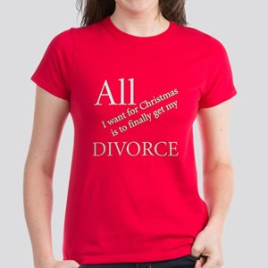Christmas Divorce Women's Dark T-Shirt