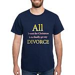 Christmas Divorce Dark T-Shirt