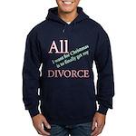 Christmas Divorce Hoodie (dark)