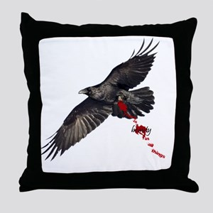 Crow's Beauty Throw Pillow