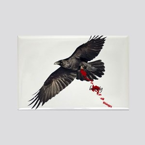 Crow's Beauty Rectangle Magnet