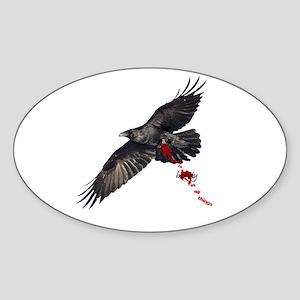 Crow's Beauty Oval Sticker