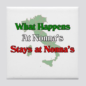 What Happens at Nonna's Stays at Nonna's Tile Coas