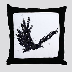 Flying CROW collage Throw Pillow