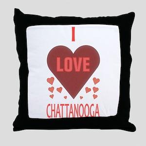 I Love Chattanooga Throw Pillow