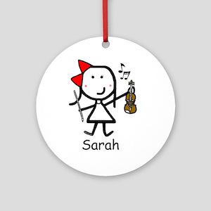 Violin - Sarah Ornament (Round)