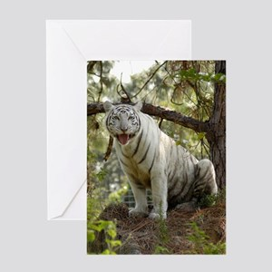 Zabu, White Tiger Greeting Card