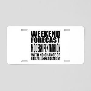 Weekend Forecast Modern Pen Aluminum License Plate