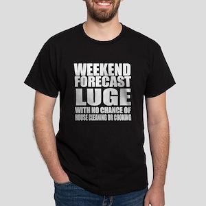Weekend Forecast Luge Sports Designs Dark T-Shirt