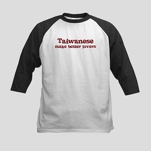 Taiwanese Make Better Lovers Kids Baseball Jersey