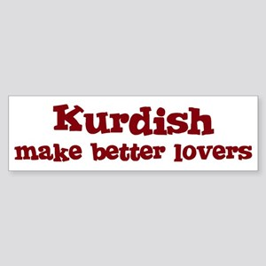 Kurdish Make Better Lovers Bumper Sticker