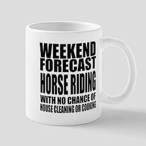 Weekend Forecast Horse Riding Sp 11 oz Ceramic Mug