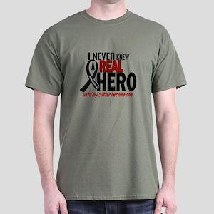 Never Knew A Hero 2 MELANOMA (Sister) Dark T-Shirt
