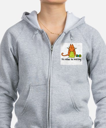 Funny To knit or not to knit Zip Hoodie