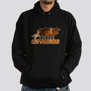 cow whisperer red heeler Hoodie (dark)