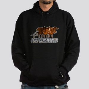 cow whisperer blue heeler Hoodie (dark)