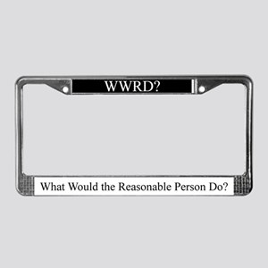 WWRD? License Plate Frame