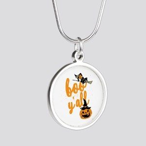Funny Halloween Boo Y'all For Texans Necklaces