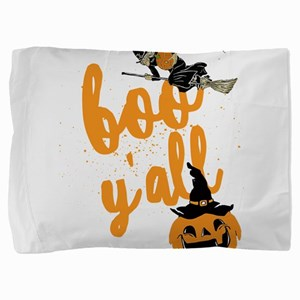 Funny Halloween Boo Y'all For Texa Pillow Sham