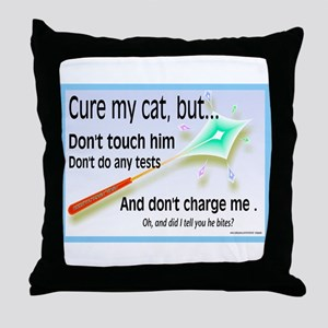 Cure My Cat Throw Pillow