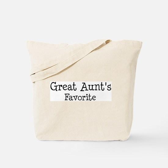 Great Aunt is my favorite Tote Bag