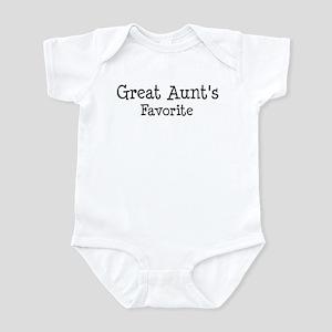 Great Aunt is my favorite Infant Bodysuit
