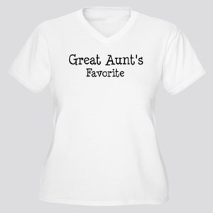 Great Aunt is my favorite Women's Plus Size V-Neck