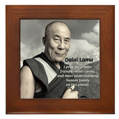 The 14th Dalai Lama Framed Tile