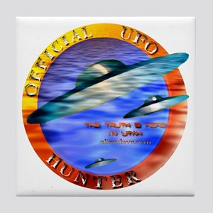Official UFO Hunter Color Tile Coaster