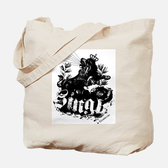 One SINGH. Tote Bag