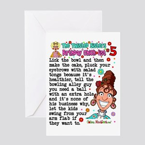 Twisted Sister Chicklist 5 Greeting Card
