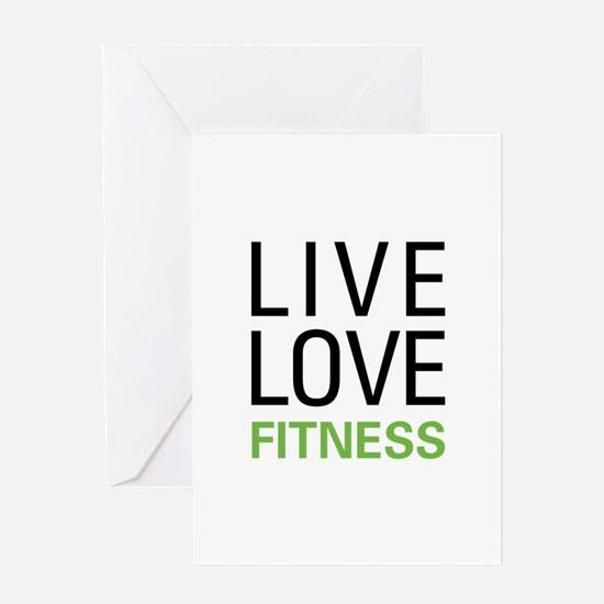 Live Love Fitness Greeting Card