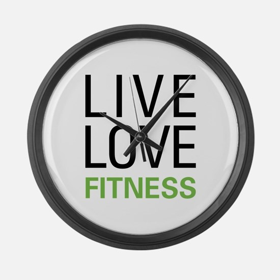 Live Love Fitness Large Wall Clock