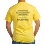 [The Road Stretches Onward] Yellow T-Shirt
