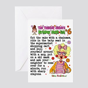 Twisted Sister Chicklist 6 Greeting Card