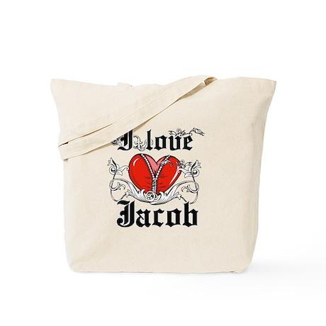 I love Jacob Tote Bag