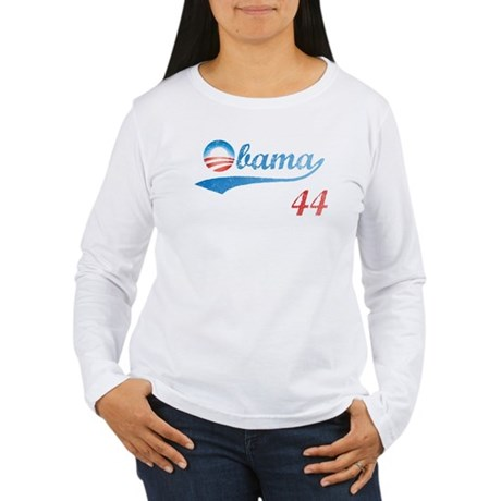 PRESIDENT OBAMA 44 Women's Long Sleeve T-Shirt
