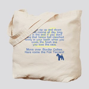 Move Over Wire Fox Terrier Flyball Tote Bag